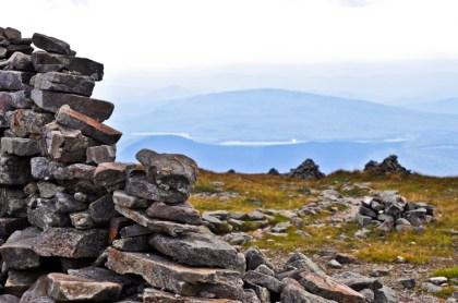Summit of Mt. Moosilauke looking down on Lake Tarleton and Kingswood
