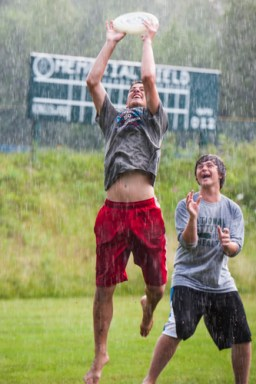 Ultimate frisbee- rain or shine!