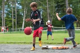 kickball games sports boys summer camp new hampshire