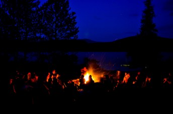 A cool night is ideal for a campfire