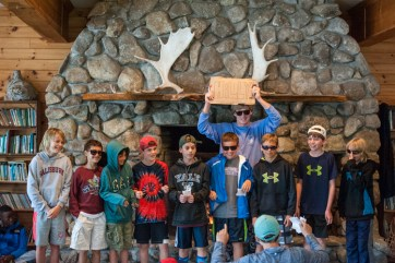 main lodge beautiful building campers smiling laughing kingswood camp new hampshire overnight