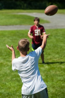 football sports clinic games boys summer camp new england