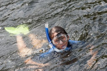 snorkeling clinic waterfront lake new hampshire boys sleepaway summer camp new england