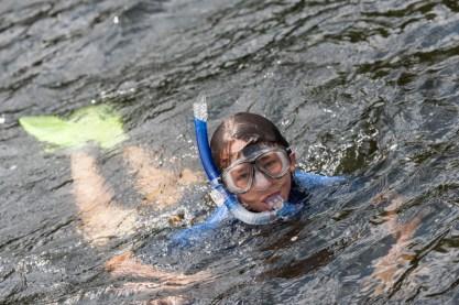 snorkeling clinic waterfront lake new hampshire boys sleepaway summer camp new england