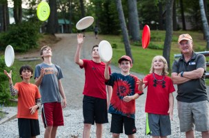 director campers boys summer camp new hampshire frisbee