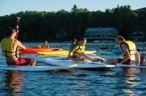 paddle evening lake