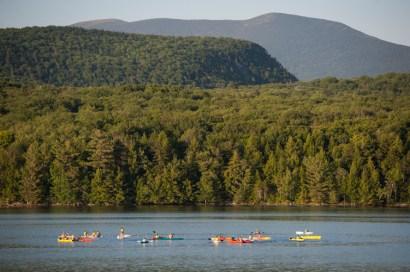 evening paddle lake