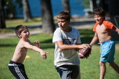 boys summer camp original games football happy campers new england