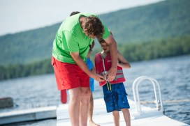 waterfront lifeguard safety boys summer camp new england lake mountains