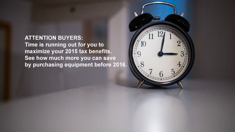 Capitalize On Your 2015 Tax Benefits Before Time Runs Out!