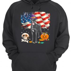 Great dane Dog Halloween Costume Gift Flag America T-Shirt Unisex Hoodie