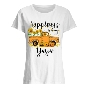 Halloween Car Pumpkin Happiness Is Being A Yaya T-Shirt Classic Women's T-shirt