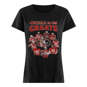 49ers all-time greats San Francisco 49ers Players Signatures  Classic Women's T-shirt