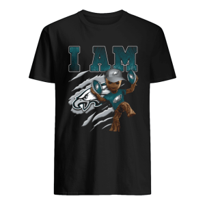 Baby Groot I Am Philadelphia Eagles  Classic Men's T-shirt