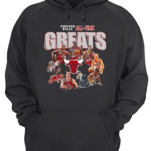 Chicago Bulls All Time Greats Signatures  Unisex Hoodie
