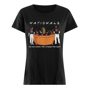 Washington Nationals Friends Sitting on the sofa the one where they finished the side  Classic Women's T-shirt