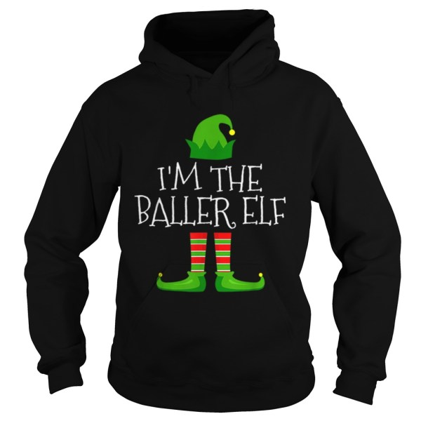 Im The Baller Elf Family Matching Christmas Pajama  Hoodie