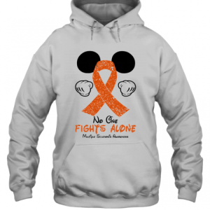 Mickey Mouse No One Fights Alone Multiple Sclerosis Awareness T-Shirt Unisex Hoodie