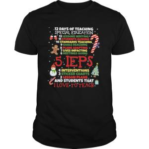 Christmas 12 days of teaching special education shirt