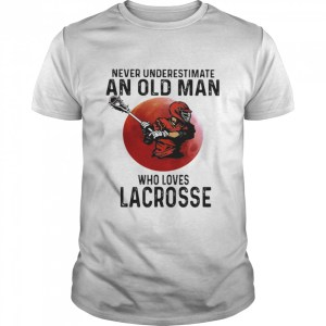 Never Underestimate An Old Man Who Loves Lacrosse Moon Blood  Classic Men's T-shirt