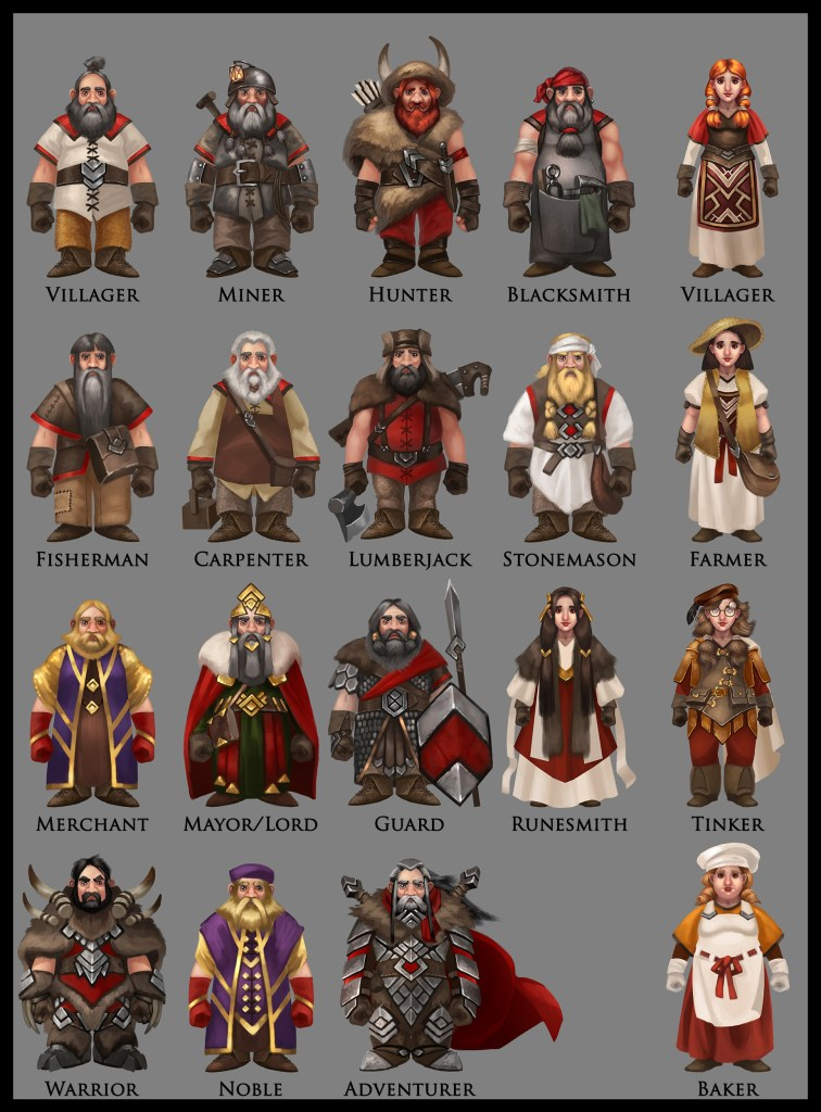 Dwarf character designs