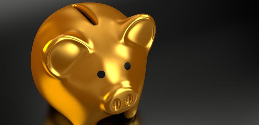 アフィリエイト収入が入った豚の貯金箱