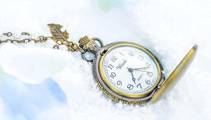 アンティークなペンダント型の時計