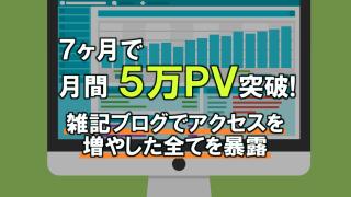 7ヶ月で月間5万PV突破!雑記ブログでアクセスを増やした全てを暴露