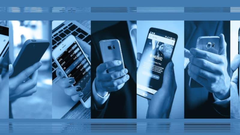 様々なスマートフォンの使い方がイメージできる画像