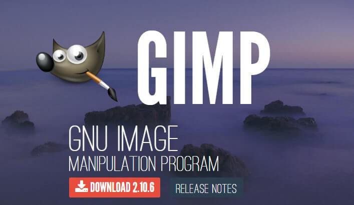 GIMPのトップページ