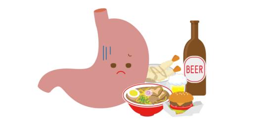 暴飲暴食を改めて生活環境を見直すと悪玉菌は減ります