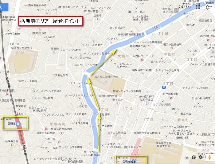 大岡川桜まつり 屋台の場所 弘明寺