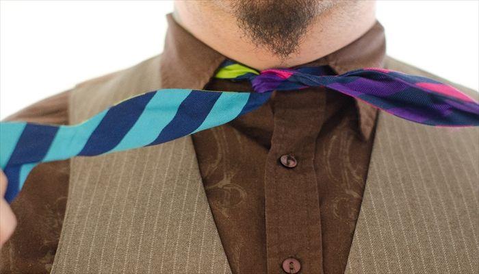 父の日 サプライズ 家族の名前入り刺繍ネクタイ