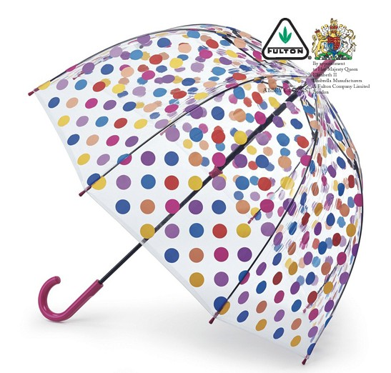 かわいいビニール傘 ドット 水玉
