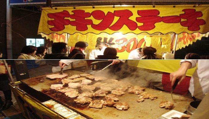 お祭りの屋台 チキンステーキ