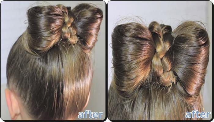 子供 浴衣の髪型 簡単リボンヘア