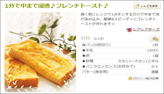 朝食 簡単レシピ おすすめ フレンチトースト