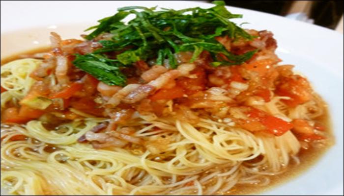 冷製パスタ 人気レシピ トマトとベーコン冷製パスタ