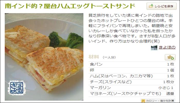 朝食 簡単レシピ おすすめ パン ハムエッグトースト