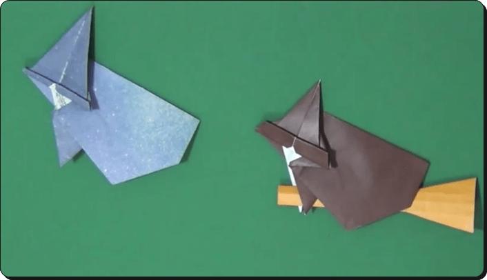 ハロウィン 折り紙 魔女