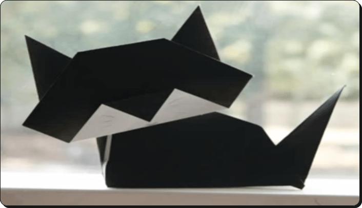 ハロウィン 折り紙 ねこ2