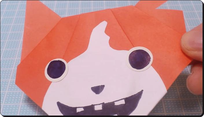 ハロウィン 折り紙 妖怪ウォッチのジバニャン