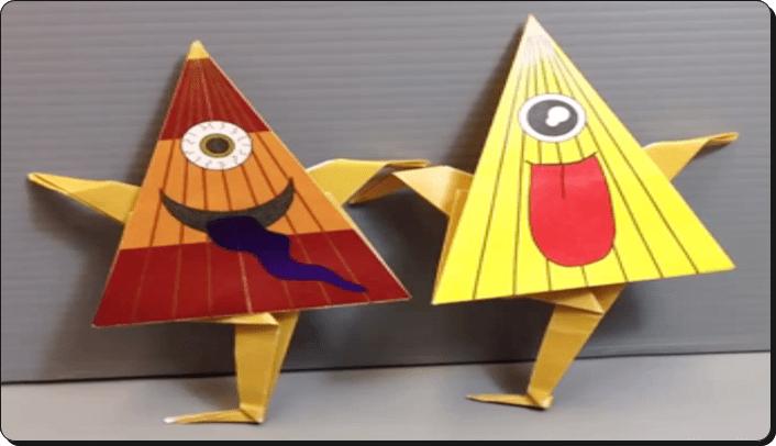 ハロウィン 折り紙 お化け2