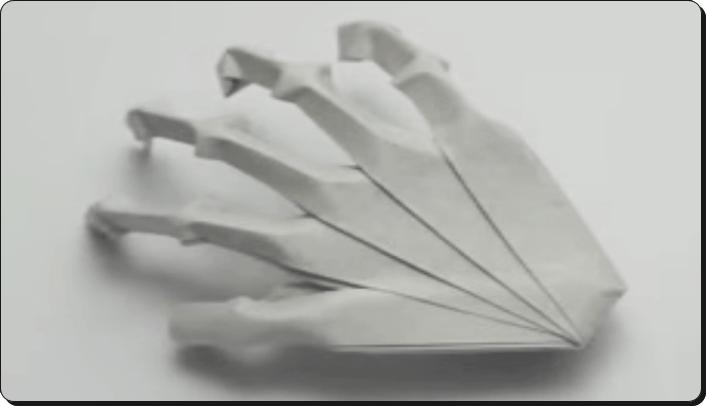 ハロウィン 折り紙 がいこつ手