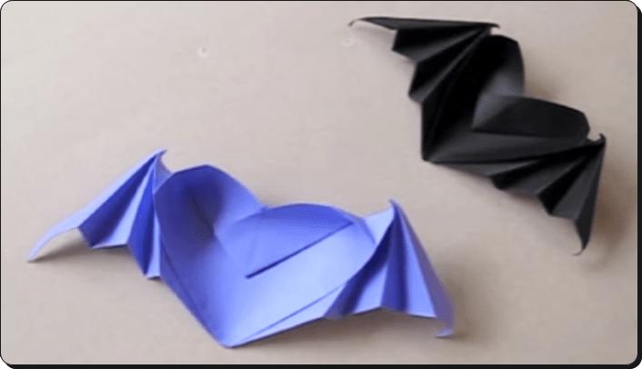ハロウィン 折り紙 コウモリ2