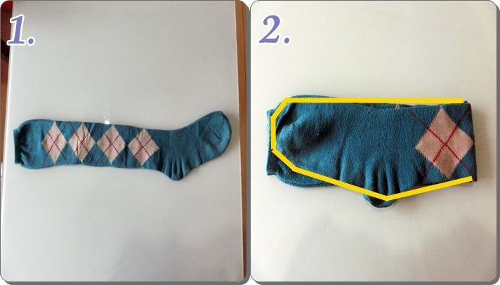 靴下のたたみ方 長い靴下