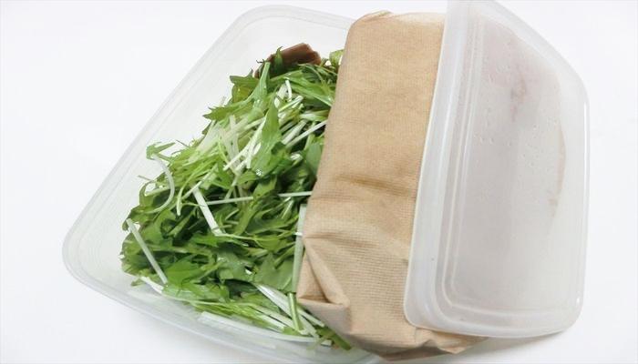 葉野菜 保存 水菜