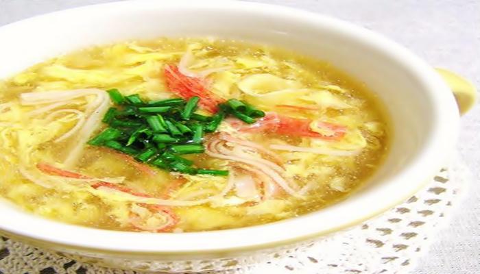 冷やし中華のおかず 玉子スープ