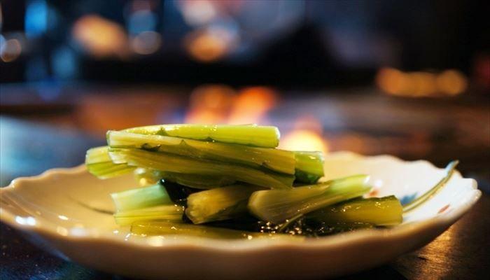 冬 料理 野沢菜