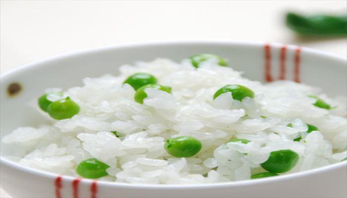 春 料理 グリーンピース